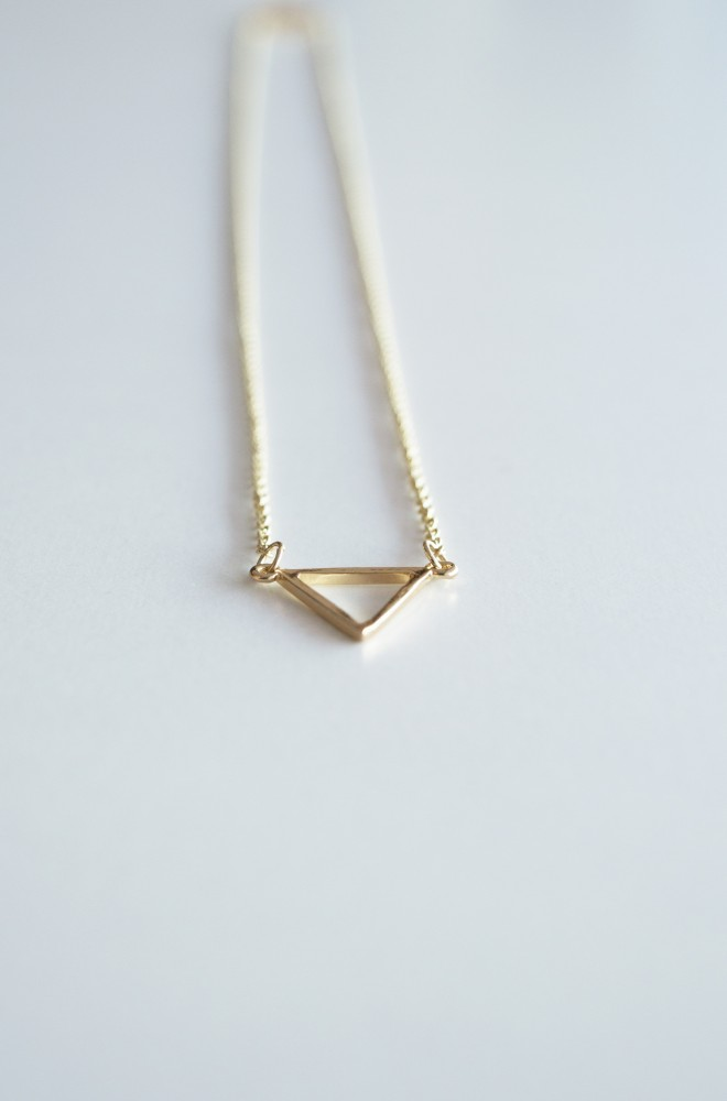 triangle outline necklace