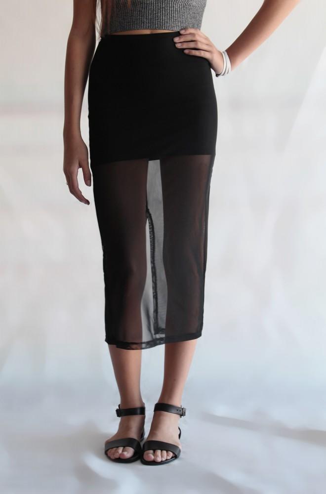 half full mesh skirt