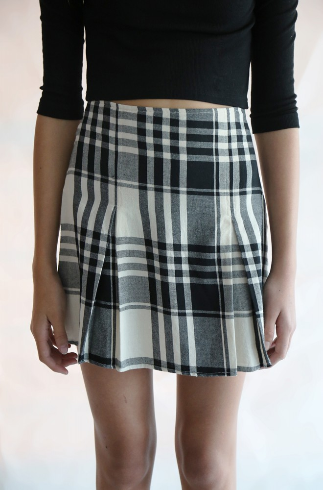 curiosity flannel skirt