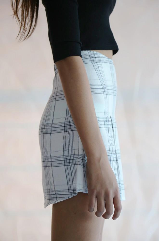curiosity flannel skirt