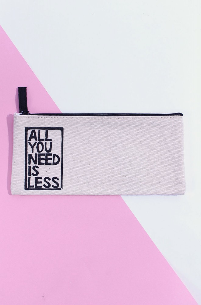 less is more pouch small