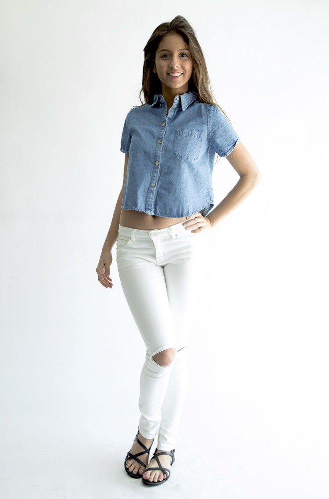 darling denim shirt